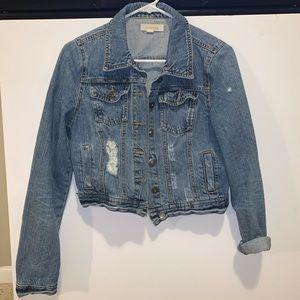 F21 Cropped Denim Jacket